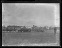 Unidentified mounted military drill or demonstration, undated (ca. 1930-1935).