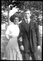 Fritz Bjorkman and an unidentified young woman, undated (ca. 1910-1913).