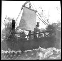 Steamboat-themed parade float, undated (ca. 1905-1915).