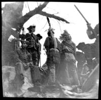 Native Americans on an unidentified parade float, undated (ca. 1905-1915).