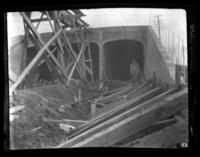 Subway Construction, Cromwell Avenue and 156th Street, Bronx, N.Y., undated (ca. 1905-1915).