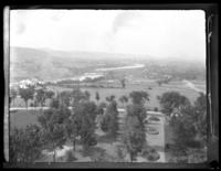 Looking along the Susquehanna River towards Binghamton, N.Y. from the State Hospital, undated (ca. 1905-1915).