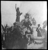 Statue of Liberty parade float, undated (ca. 1905-1915).