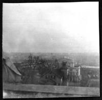 High-angle view overlooking an unidentified town, undated (ca. 1900-1909).