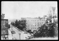 High-angle view overlooking an unidentified street, undated (ca. 1900-1909).