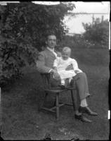 Unidentified man and infant, Cape Ann, Massachusetts, undated [circa 1900-1910].