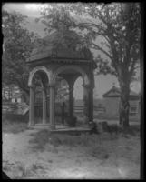 Well pump at the John Haven - Woodbury Langdon House, on the southeast corner of Riverside Drive and W. 181st Street, New York City, May 31, 1898.