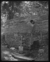 Haven Lane Spring (Buckman's well) between W. 181st and W. 182nd Streets, Northern Avenue and Riverside Drive, New York City, September 25, 1897.