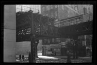 Sixth Avenue El, Manhattan, at Greenwich Street, March 19, 1937.