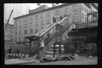Sixth Avenue El, Manhattan, at Park Place. View of the station looking south, March 1 or 3, 1939.