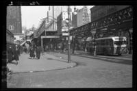 Ninth Avenue El, Manhattan, at Ninth Avenue and 58th Street, October 29, 1940.