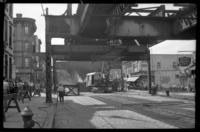 Fifth Avenue El, Brooklyn, at 15th Street, September 19, 1941. First section demolished at 15th Street, working south from this point.