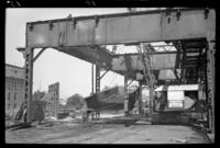 Fifth Avenue El, Brooklyn, September 19, 1941. Removing a double section.