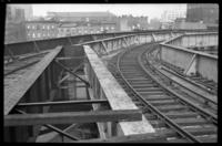 Sands Street terminal, Brooklyn, at the Loop, showing east and west bound tracks, June 7, 1941.