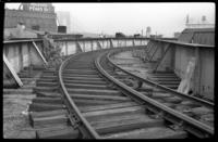 Sands Street terminal, Brooklyn, at the Loop, approaching the east bound station side, June 7, 1941.