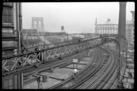 Sands Street station, Brooklyn, June 7, 1941. View of High Street station showing the west bound platform.