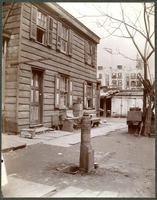 Water pump at the rear of 65 E. 87th Street, north side between Madison and Park, New York City, April 21, 1898.