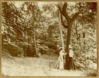 Unidentified women at the site of a spring in Central Park at E. 97th Street near East Drive, New York City, July 23, 1898.