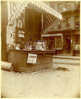 Beverage seller's stand, New York City, undated [c. 1893].