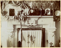 Unidentified mantel and fire screen, undated [c. 1893-1902?].