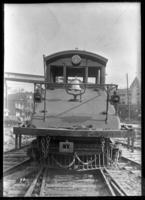 Brooklyn Rapid Transit El locomotive 1, July 30, 1940. [Built by?] Brooklyn Heights Electric in 1909.