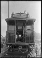 Brooklyn Rapid Transit / Kings County Elevated Railroad car 750, July 30, 1940. Built by Pullman in 1888. End view.