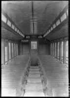 Brooklyn Rapid Transit car 3285, undated [c. 1940]. Interior view.