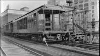 Brooklyn-Manhattan Transit Corporation (BMT) train at Fulton Ferry, July 3, 1938.