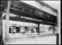 Bronx El, Bronx, Morrisania, Third Avenue  at Franklin Avenue, c.1906.