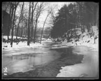 Partly frozen river, Bronx Park, Bronx, N.Y., 1903.