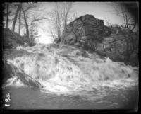 River falls and old mill wall, Bronx Park, Bronx, N.Y., undated.