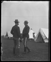 Major Stephen Fowler Hart and Battalion Adjutant Frederick Charles Ringer of the 22nd Regiment, Camp Black, May 14, 1898.