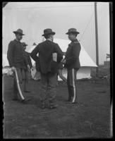 Colonel Franklin Bartlett with a reporter, Camp Black, May 14, 1898.