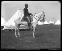 Battalion Adjutant Frederick Charles Ringer of the 22nd Regiment on horseback, Camp Black, May 14, 1898.