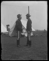 Lieutenant-Colonel Nathaniel Blunt Thurston and Adjutant Harry Hayden Treadwell on the field, Camp Black, May 14, 1898.