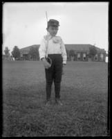 Little boy with sword, Fort Slocum, New York, 1898.