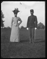 Adjutant and Mrs. Frederick Charles Ringer, Fort Slocum, New York, 1898.