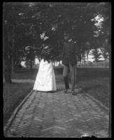 Adjutant and Mrs. Harry Hayden Treadwell, Fort Slocum, New York, 1898.