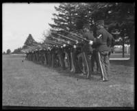 Bayonet drill, Fort Slocum, New York, 1898.