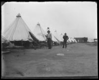 Army tents, Fort Slocum, New York, 1898.