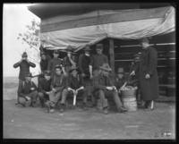 Kitchen crew, Fort Slocum, New York, 1898.