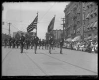 Flag bearers, Decoration Day, Bronx, N.Y., 1903 or 1909.