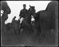 General Archibald Butt giving orders, sham battle, June 15, 1901.