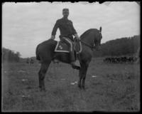 Colonel Franklin Bartlett of the 22nd Regiment, sham battle, [possibly Van Cortlandt Park, Bronx, N.Y.], June 15, 1901.