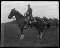 Colonel Morris of the 9th Regiment, sham battle, [possibly Van Cortlandt Park, Bronx, N.Y.], June 15, 1901.