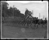 The 22nd Regiment passing in review, sham battle, [possibly Van Cortlandt Park, Bronx, N.Y.], June 15, 1901.