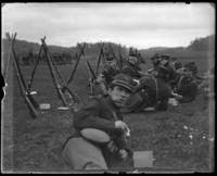 Lunch, sham battle, [possibly Van Cortlandt Park, Bronx, N.Y.], June 15, 1901.