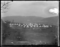 Camp of Squadron A, Croton Dam strike, Croton Landing, N.Y., April 21, 1900.