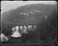Camp of Troop C, Croton Dam strike, Croton Landing, N.Y., April 21, 1900.