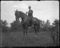 Unidentified policeman on a horse, Bronx, N.Y. [?], undated.
